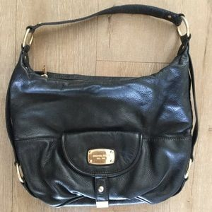 Michael Kors Leather Black Hobo Purse Bag